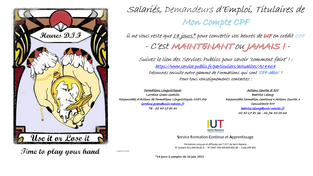 Mon compte formation - FC IUT SN