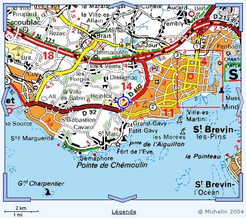 Plan de Saint Nazaire